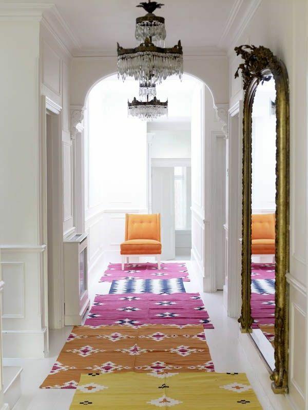 teppich im flur sch ne interieur vorschl ge f r ihren eingangsbereich wohnen pinterest. Black Bedroom Furniture Sets. Home Design Ideas