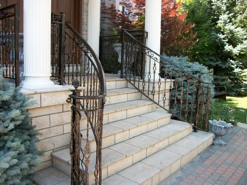 Outdoor Wrought Iron Stair Railing   Wrought Iron Handrails For Exterior  Stairs