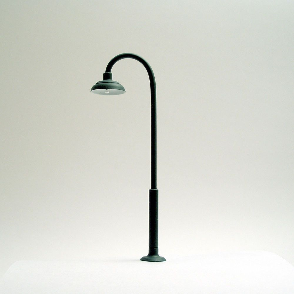 Auction! O-Scale Model Train Building/Depot/Station Street Lamp/Light 12v Green Imperfect #LocomotiveJoe