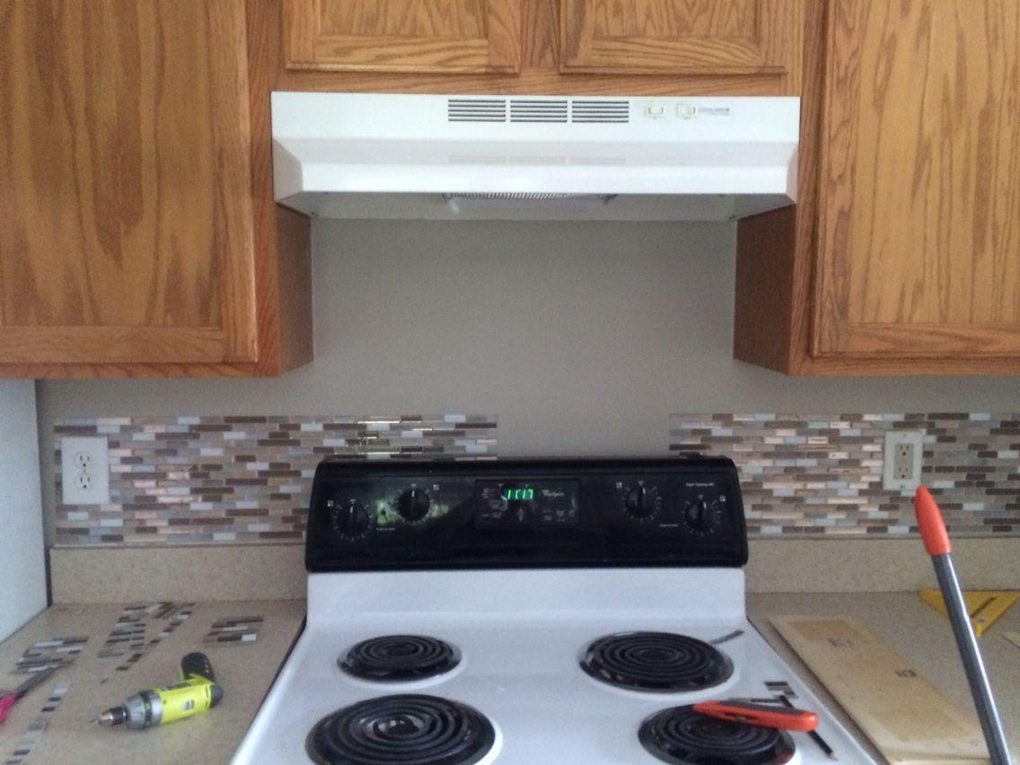 Progress on backsplash tile in the kitchen (With images ...