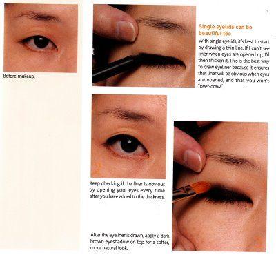 makeup for single eyelid eyes