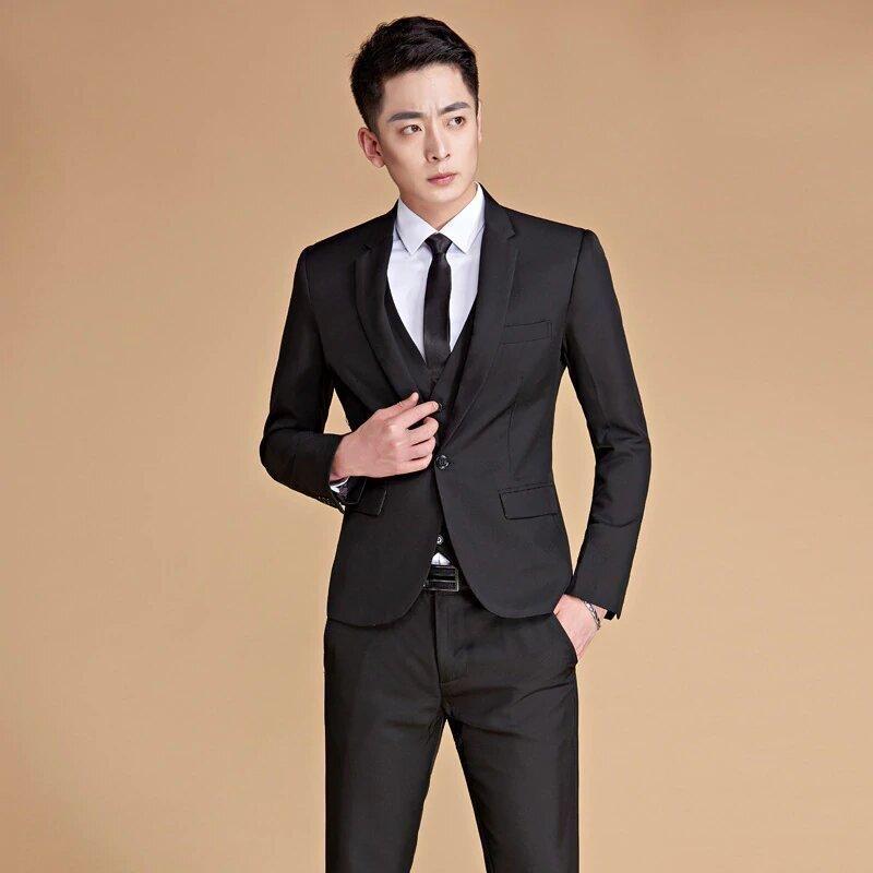 768f79094710 Men s Spring Autumn Slim Fit Suit