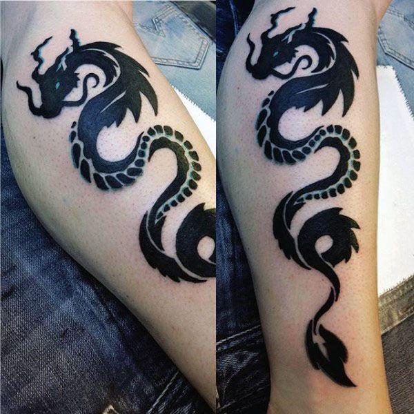 Photo of 60 Tribal Dragon Tattoo Designs für Männer – Mythologische Ink-Ideen,  #designs #Dragon #drag…
