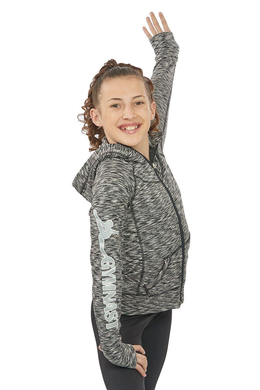 2db6319a1 Lizatards Space Dye Gymnastics GYMNAST Hoodie Jacket