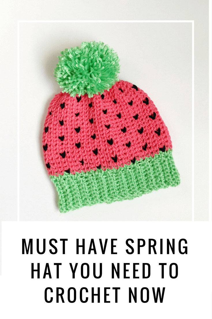 Watermelon crochet hat pattern that has links to crochet video watermelon crochet hat pattern that has links to crochet video tutorials for special stitches the baditri Image collections