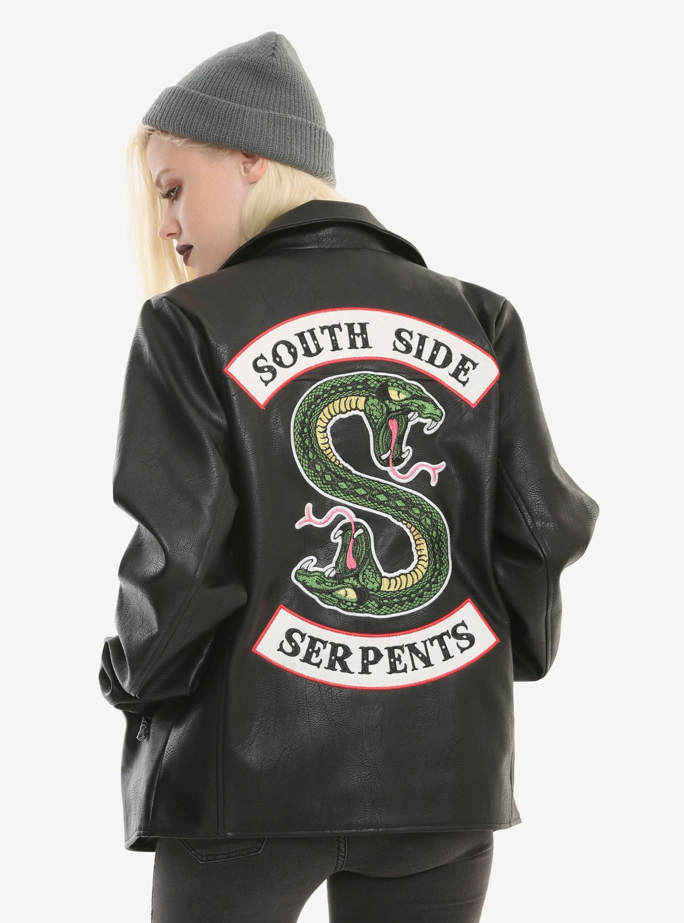 7c4c76720b40 Riverdale Southside Serpents Faux Leather Jacket Hot Topic Exclusive ...
