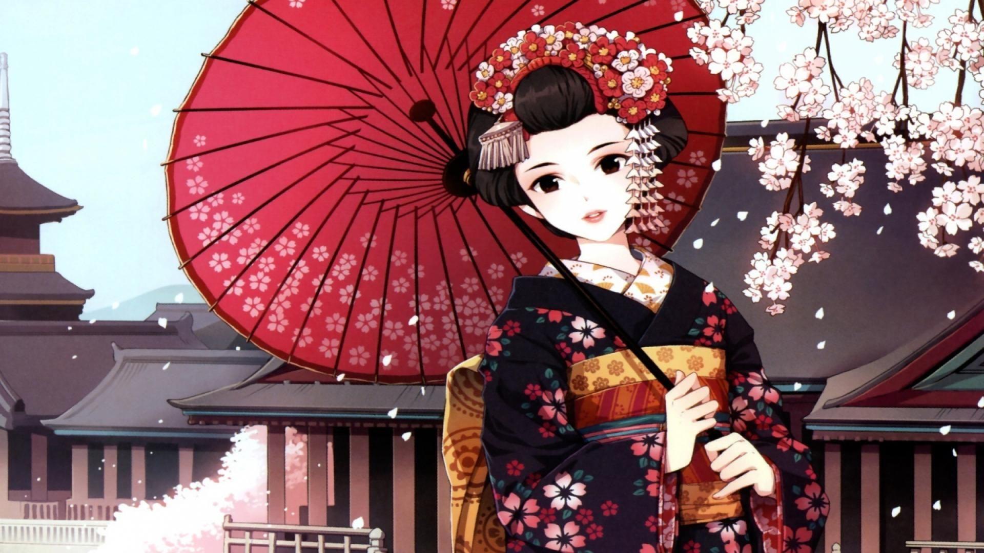 Красота картинки, японская картинка девушки