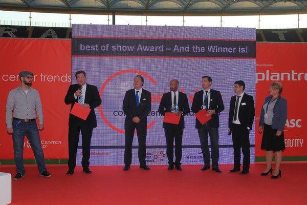 Best of Show Award auf den Contact Center Trends 2011 in Frankfurt