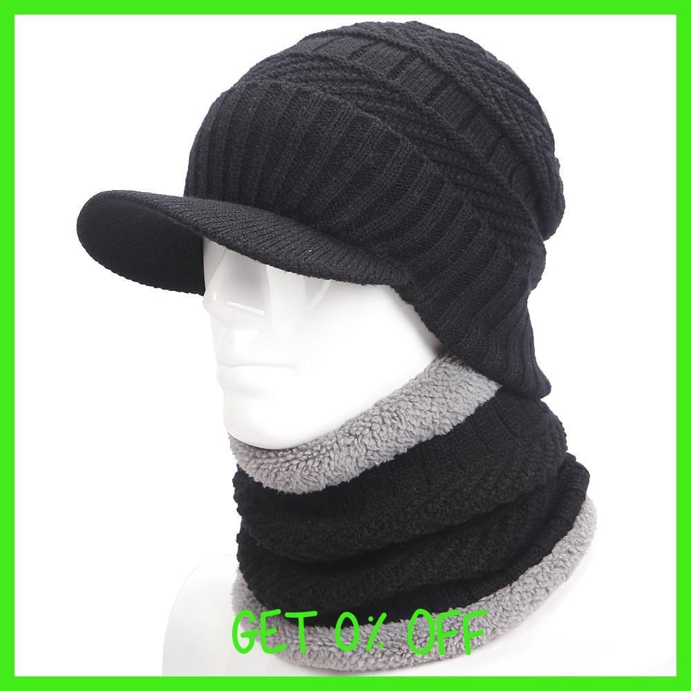 1e6f9ee8461 warmer winter hat knit cap scarf cap Winter Hats For men knitted hat men  Beanie Knit