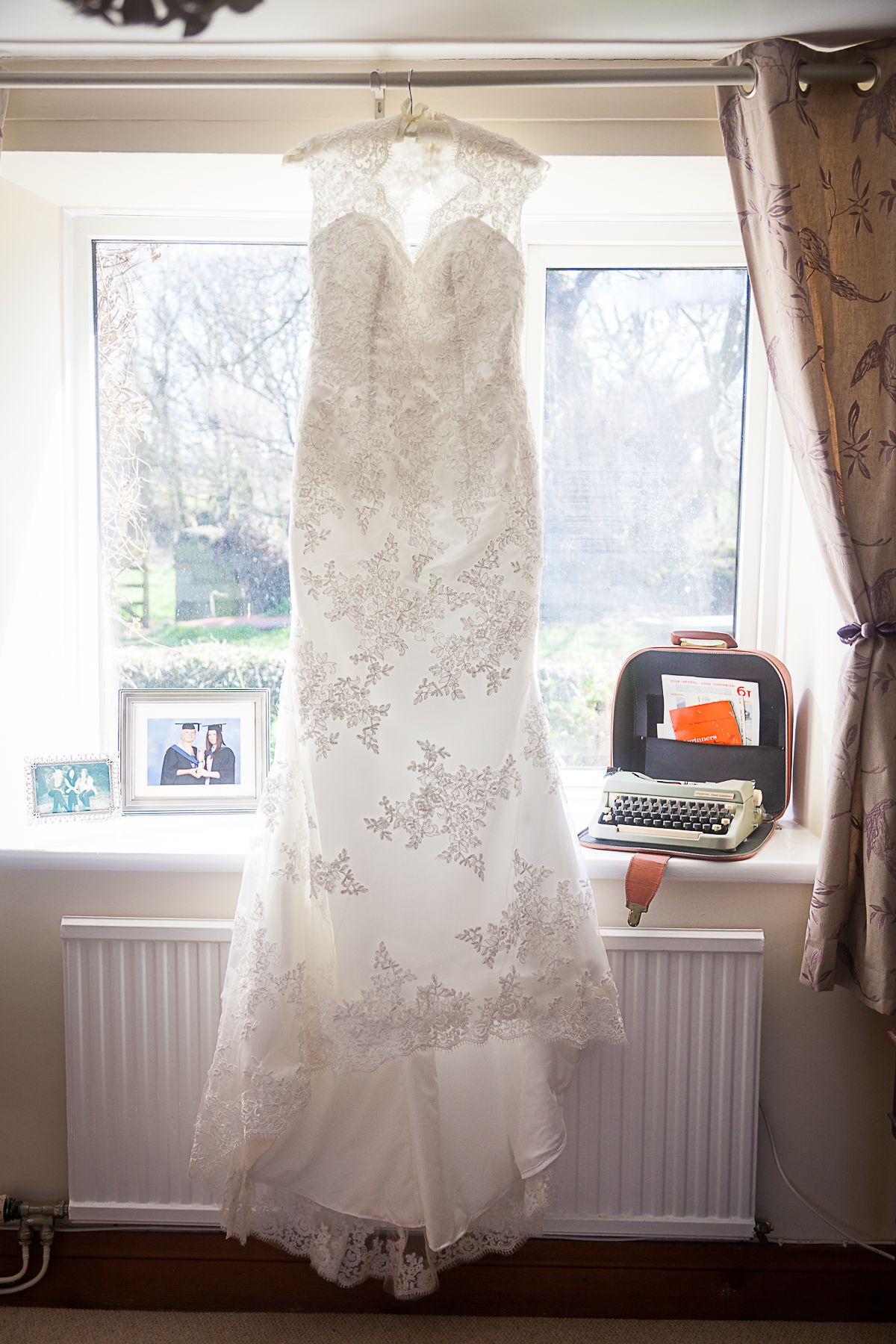 Lace, white wedding dress from Oxfam bridal shop Leatherhead ...