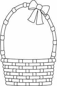 Empty Easter Egg Basket Coloring Page