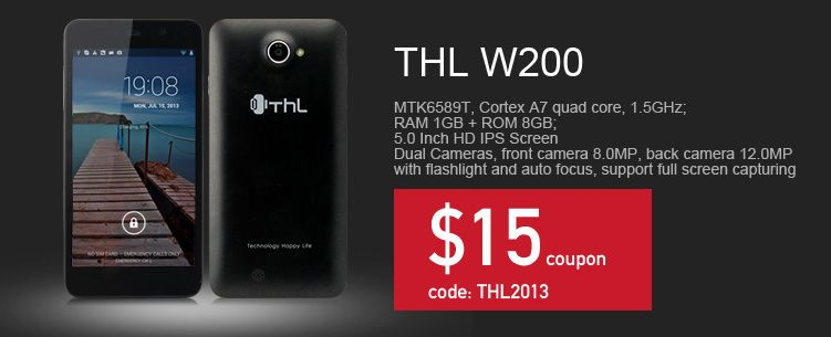 Together with Thl MonkeyKing--w11, recently, Thl w200 is leaked out. Now let's take a first look on it. Thl w200 is powered by a latest MTK6589T Quad-core processor at 1.5GHz, with 28nm process technology, which consume almost 30% less than the previous generation chip.
