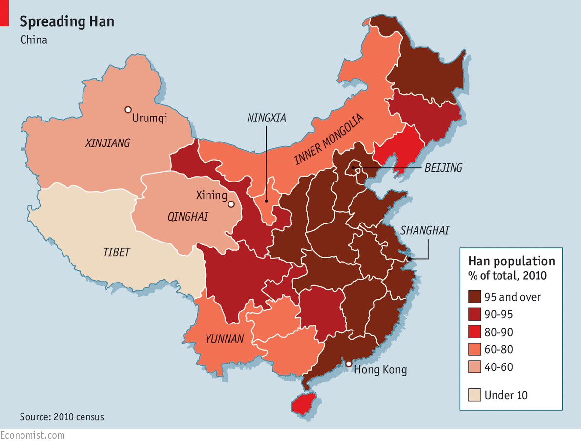 The upper Han | Race | China, China map, Asia