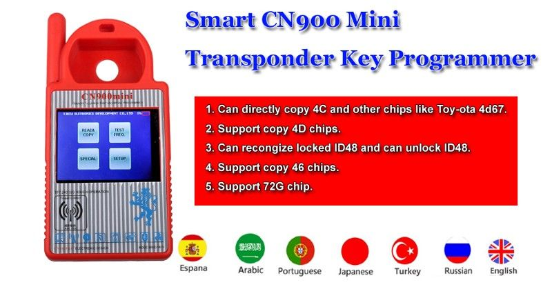 smart CN900 Mini Transponder Key Programmer
