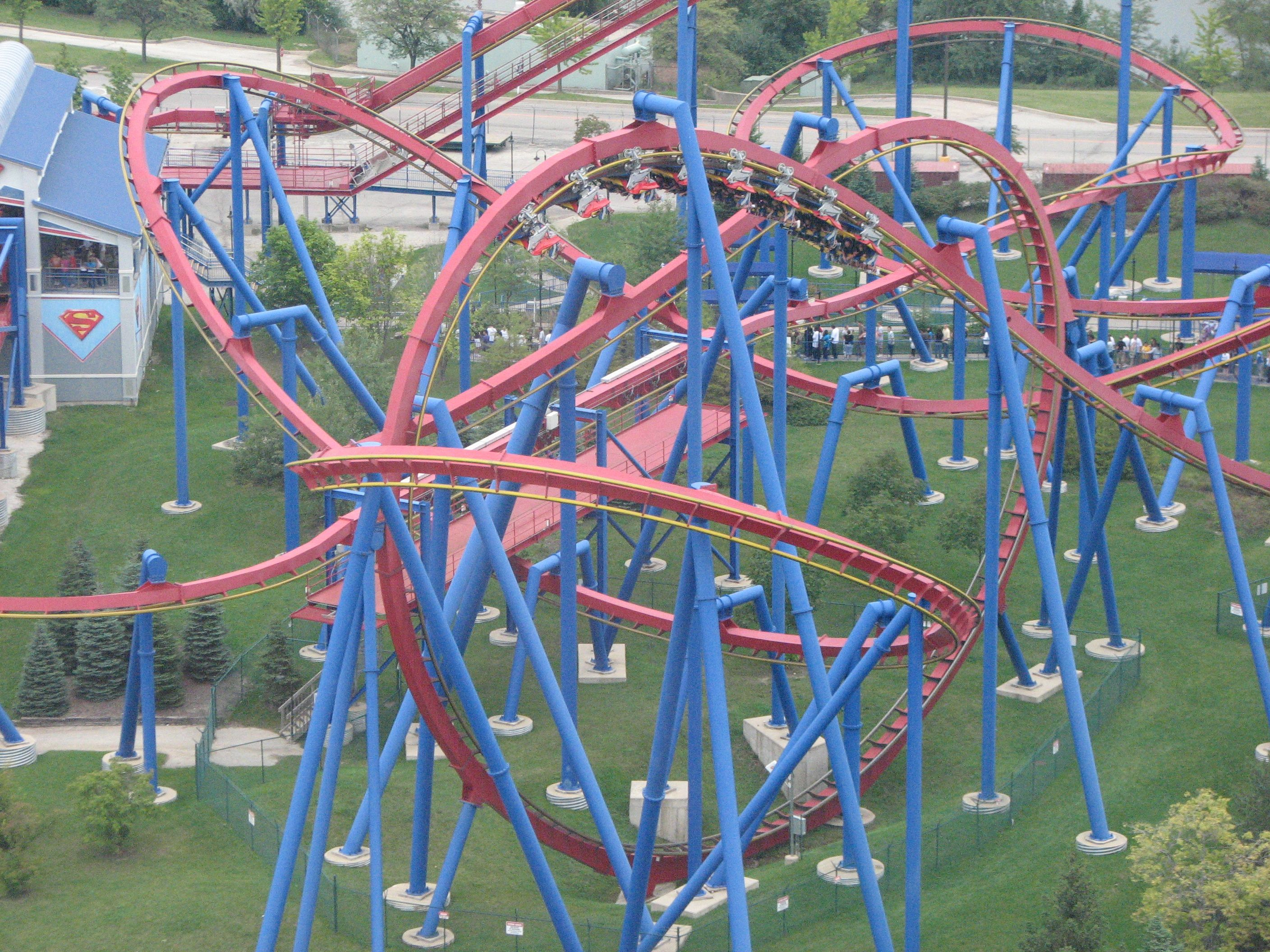 File Superman Ultimate Flight At Six Flags Great America 16 Jpg Six Flags Six Flags America Great America