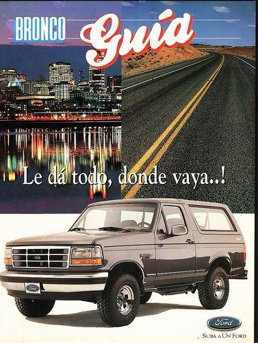 Bronco Guia 1996 Ford Bronco Ford Motor Company Bronco