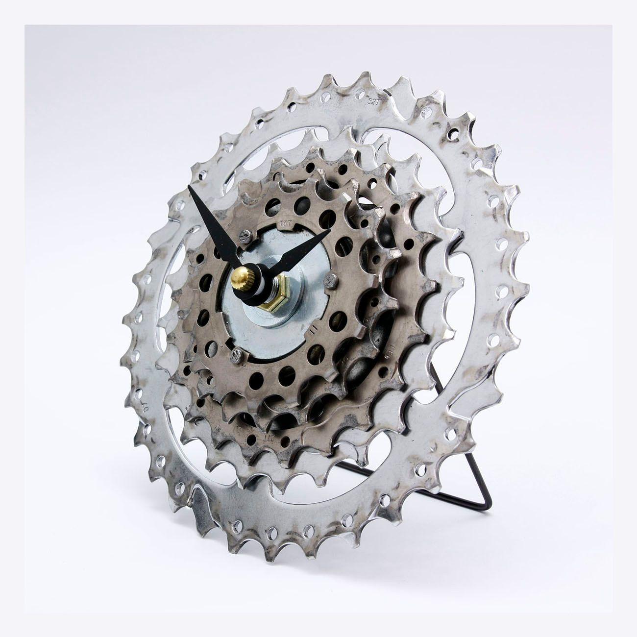 bicycle clock bike clock steampunk clock cycling gift bicycle clock gear