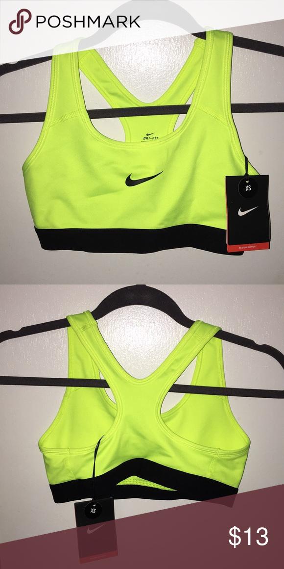 d7f10d3cbc742 Nike Sports Bra Neon yellow x black! Nike Sports bra! No padding cups