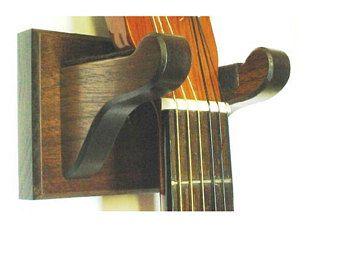Walnut Wood Guitar Hanger Wall Mount Display