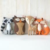 Woodland Animals - via @Craftsy