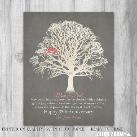 35 Year Wedding Anniversary Gift Ideas For Parents Wedding Ideas