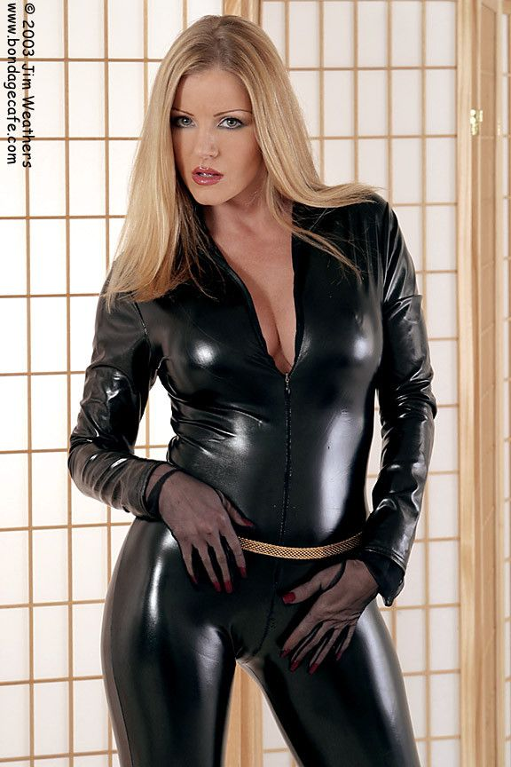 Amber Michaels Pornstar Large Photo Latex Lady Catsuit Large Photos Leather Pants