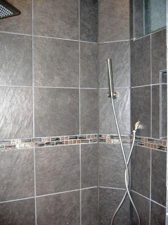 walk in bathroom shower tile ideas KN Tile and Design, Tile Photo