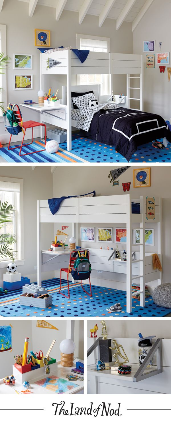 Loft bedroom for boys  The Uptown Loft Bed not only features a sleek modern design but it