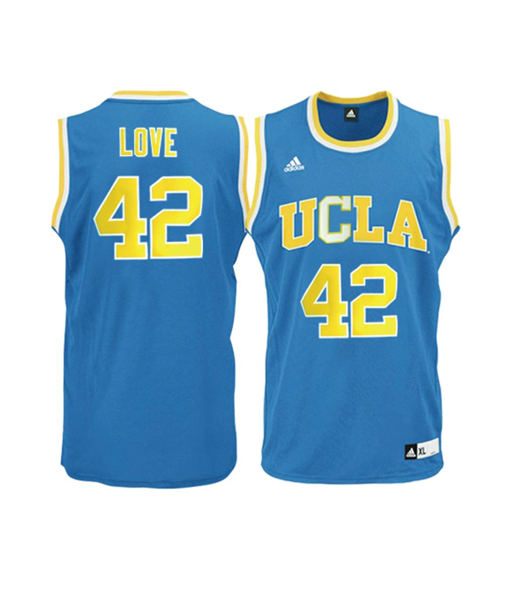 c2ef3cdeab9 ... denmark kevin love ncaa ucla bruins 42 blue basketball jersey. stitched  name and b1d02 28df6
