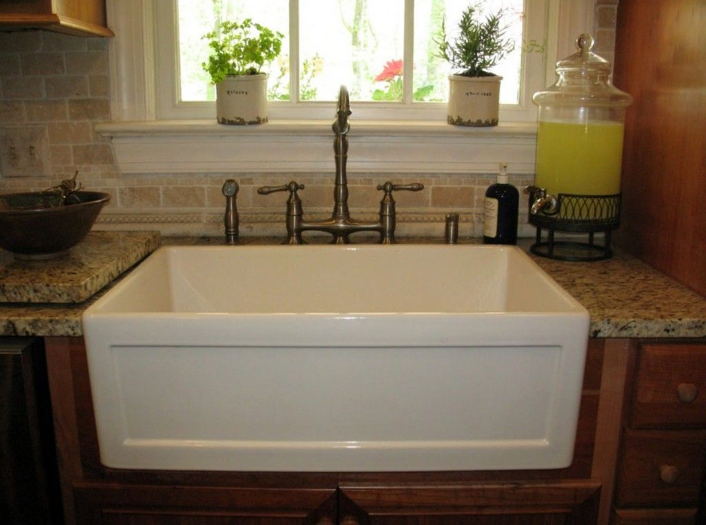 Porcelain Kitchen Sink For A Chic Kitchen In 2020 Farmhouse Sink Kitchen Kitchen Sink Design Ikea Kitchen Sink