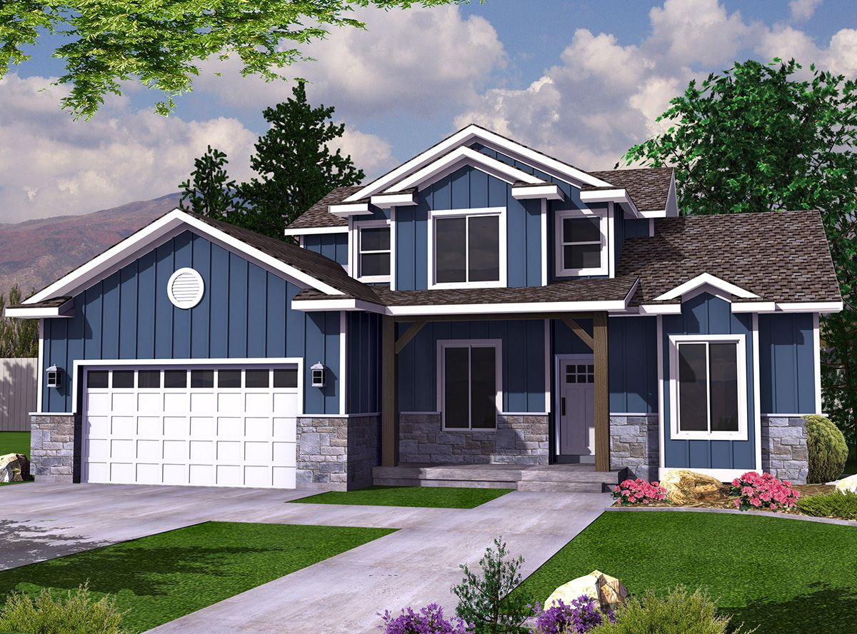 Newport 2 Story Traditional House Plan Bungalow Floor Plans
