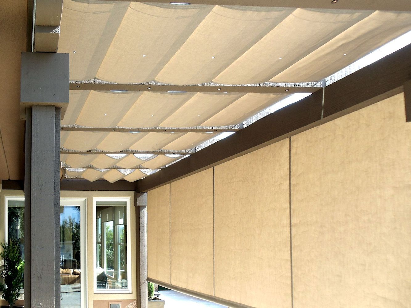Slide Wire Cable Awnings By Superior Awning Let The Sun Shine Slide Wire Cable Awnings Outdoor Awnings Slide Wire Canopy