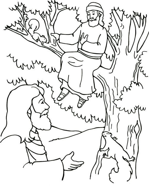 Jesus and Zacchaeus | Sunday School | Pinterest | Zaqueo, Religiones ...