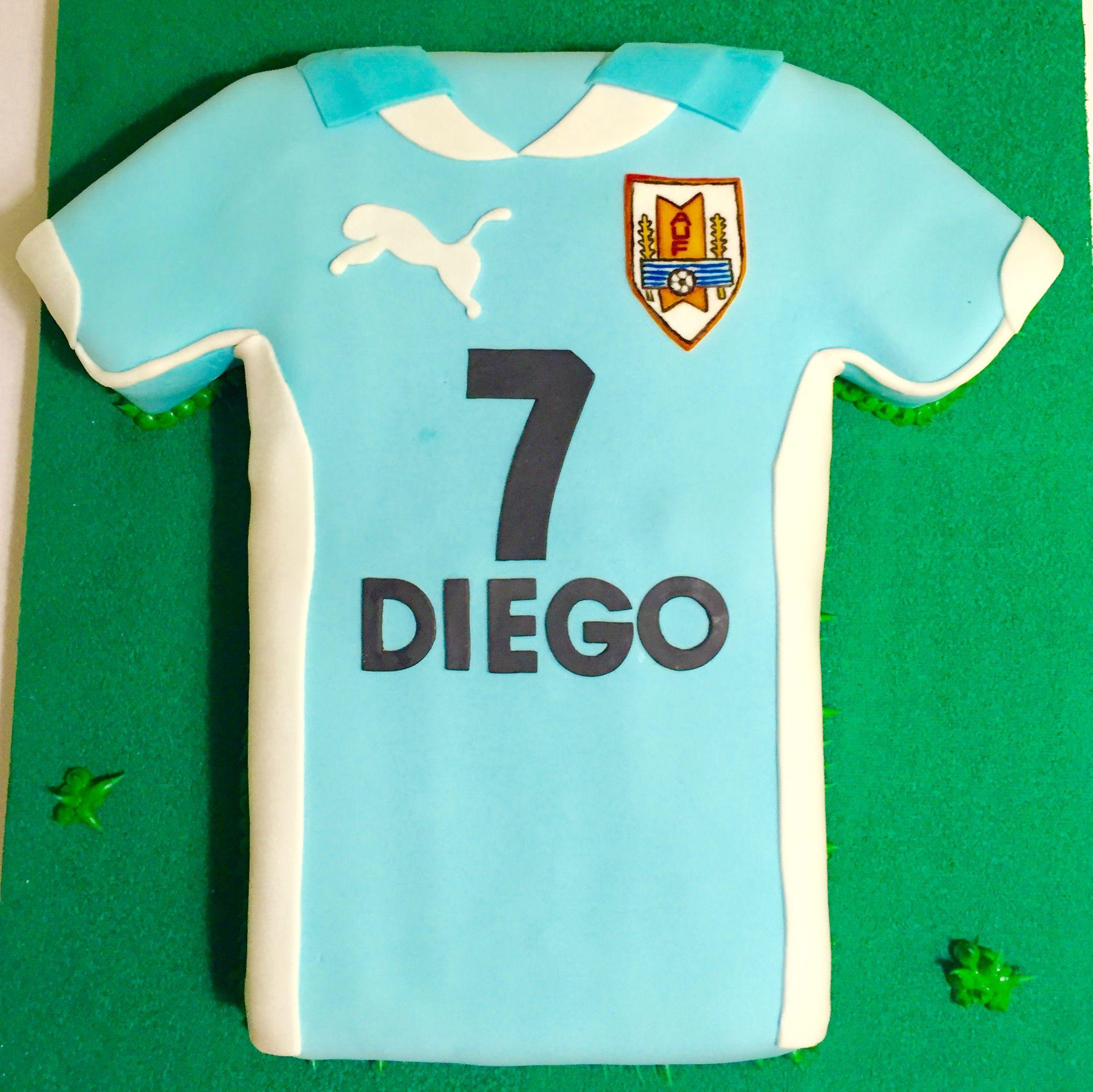 Torta Camiseta Selección Uruguaya  Uruguay Socker T-Shirt  5ceee7c017fb3