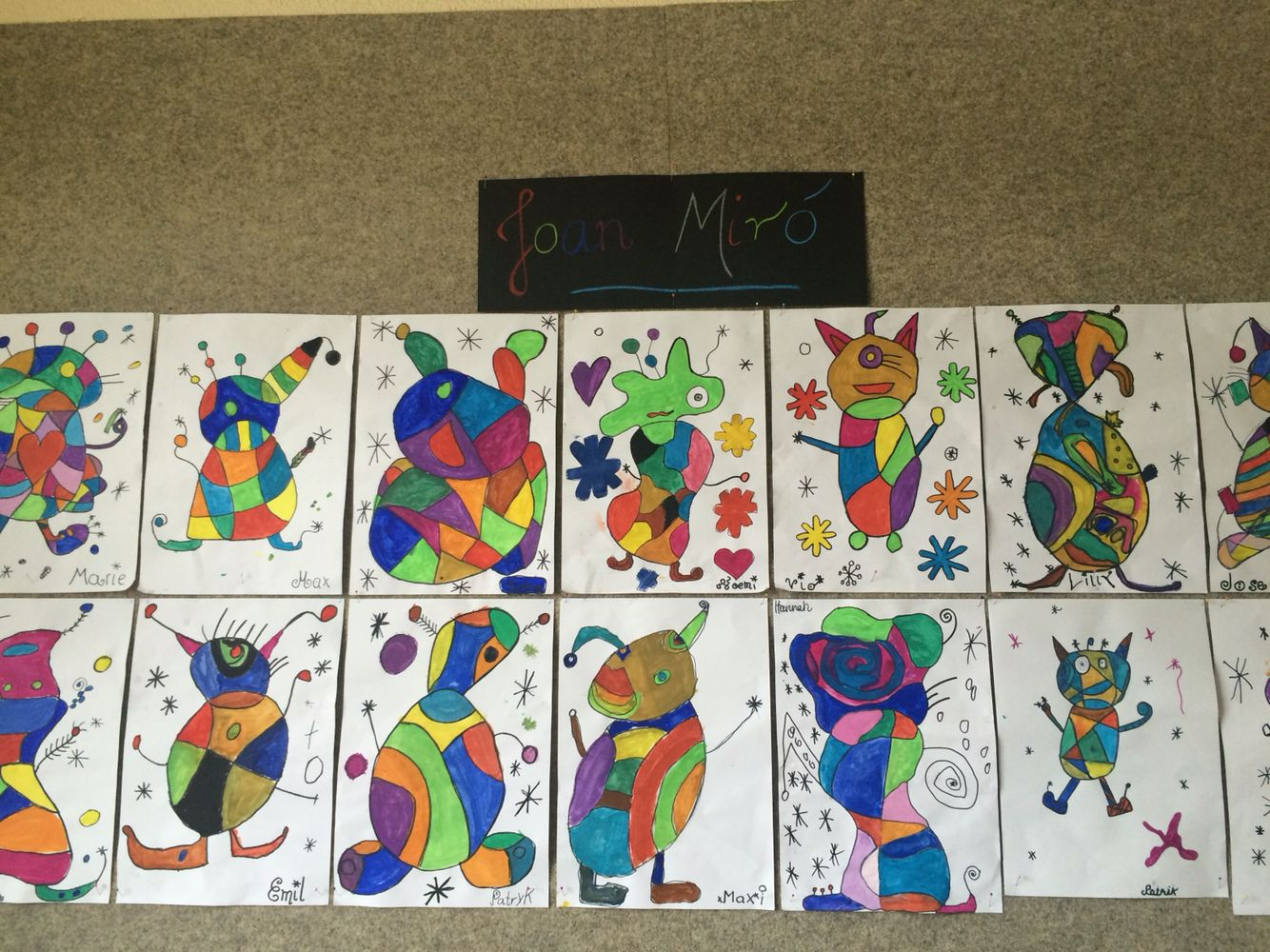 Joan Miro Art Projects For Kids