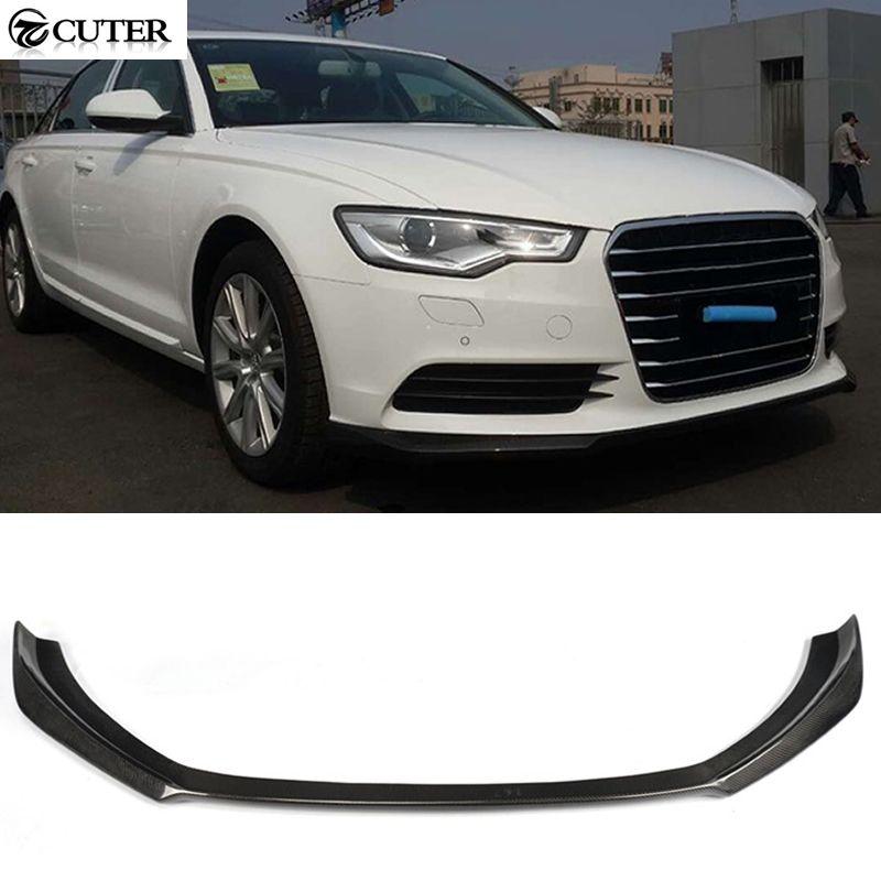 A6 C7 Carbon Fiber Front Lip Spoiler For Audi A6 C7