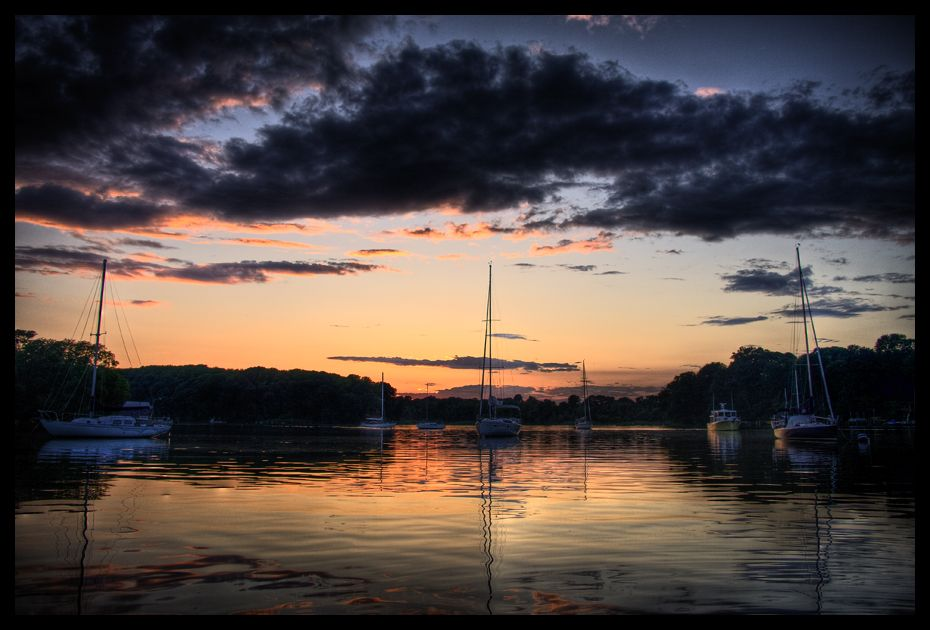 sunsets sailboats by ahedrick201