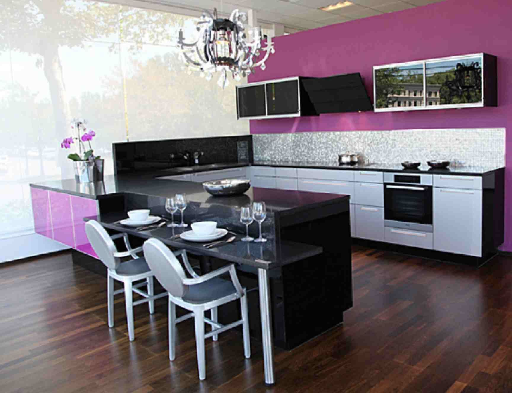 Elegant Purple Kitchen Inspiration Ideas #Kbhome