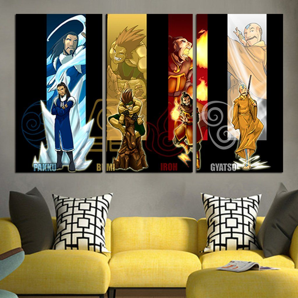 Pin On Avatar The Last Airbender Wall Art Canvas
