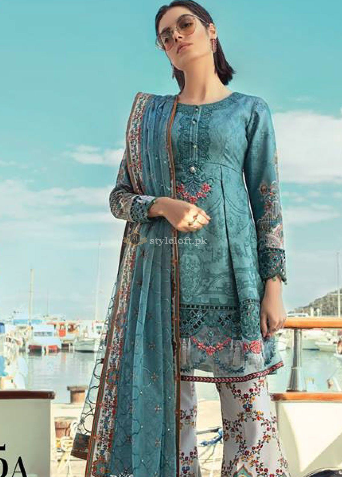 023dc9d428 Maria B Embroidered Lawn Collection 2019 Unstitched 3 Piece Suit ...