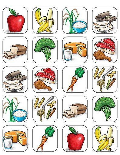 Imagen de comida para imprimir imagenes y dibujos para for Actividades para jardin de infantes para imprimir