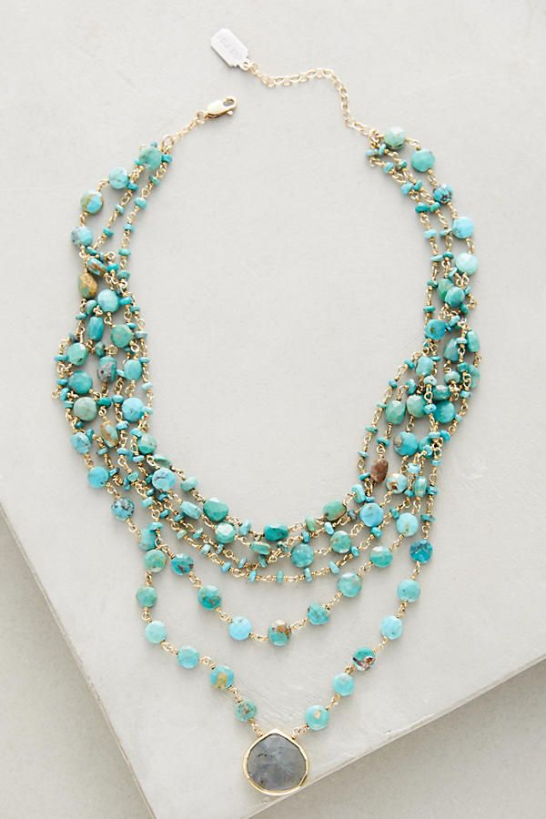 Multilayer Turquoise Choker