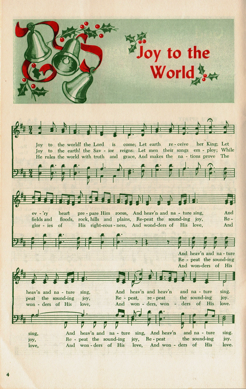 Joy to the World   Christmas sheet music, Joy to the world, Christmas music
