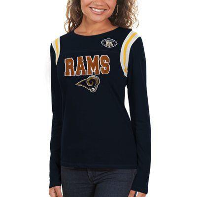 St. Louis Rams Ladies Baby Jersey Crew Long Sleeve T-Shirt  de3eeee8cc23