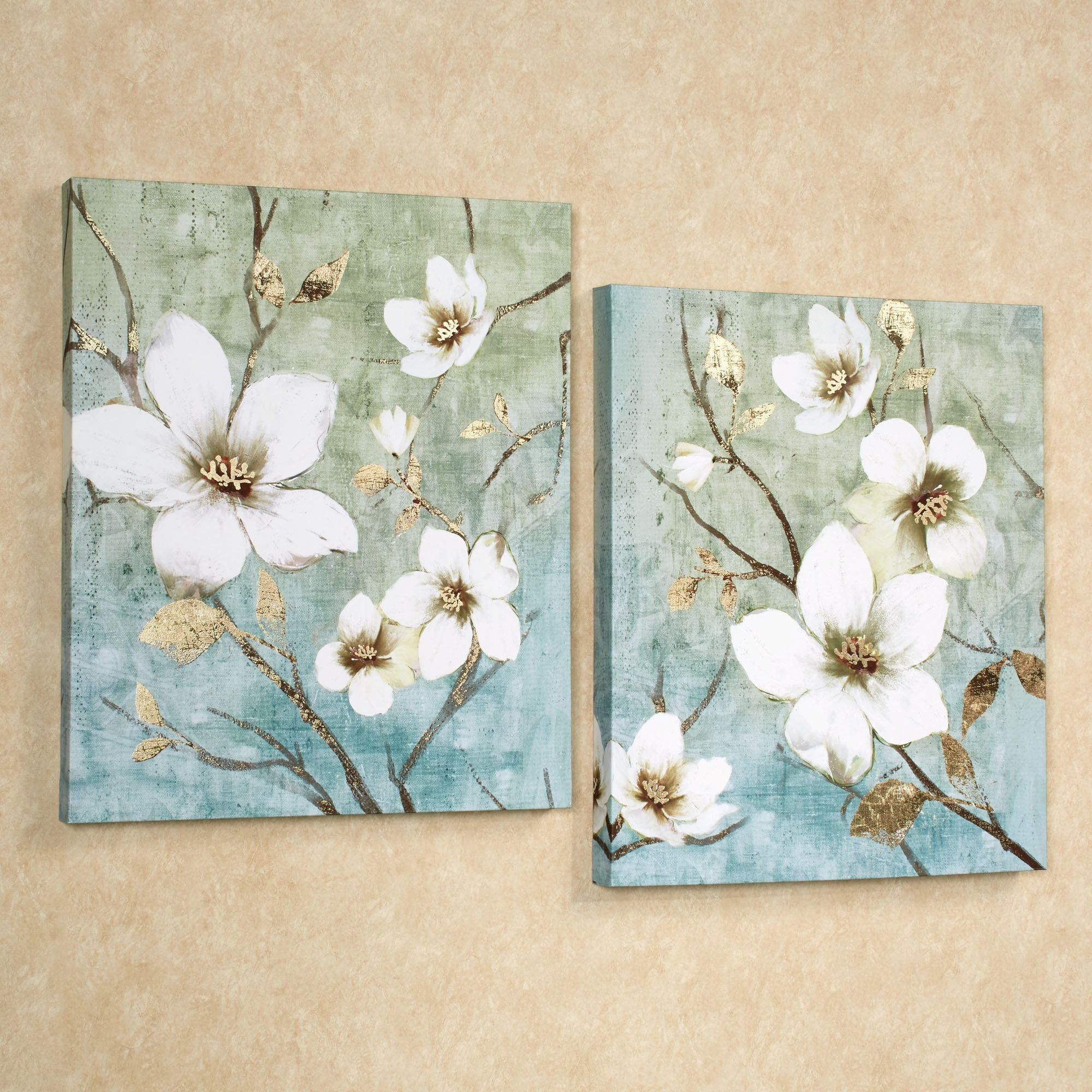 In Bloom Floral Canvas Wall Art Set