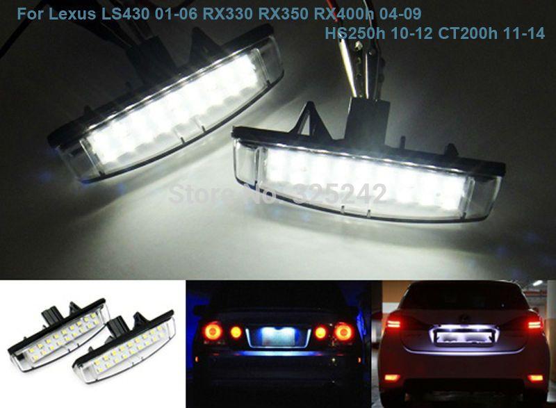 For Lexus Ls430 01 06 Rx330 Rx350 Rx400h 04 09 Hs250h 10 12 Ct200h No Error Excellent Ultra Bright Led License Plate Lamp L Lamp Light License Plate Car Lights