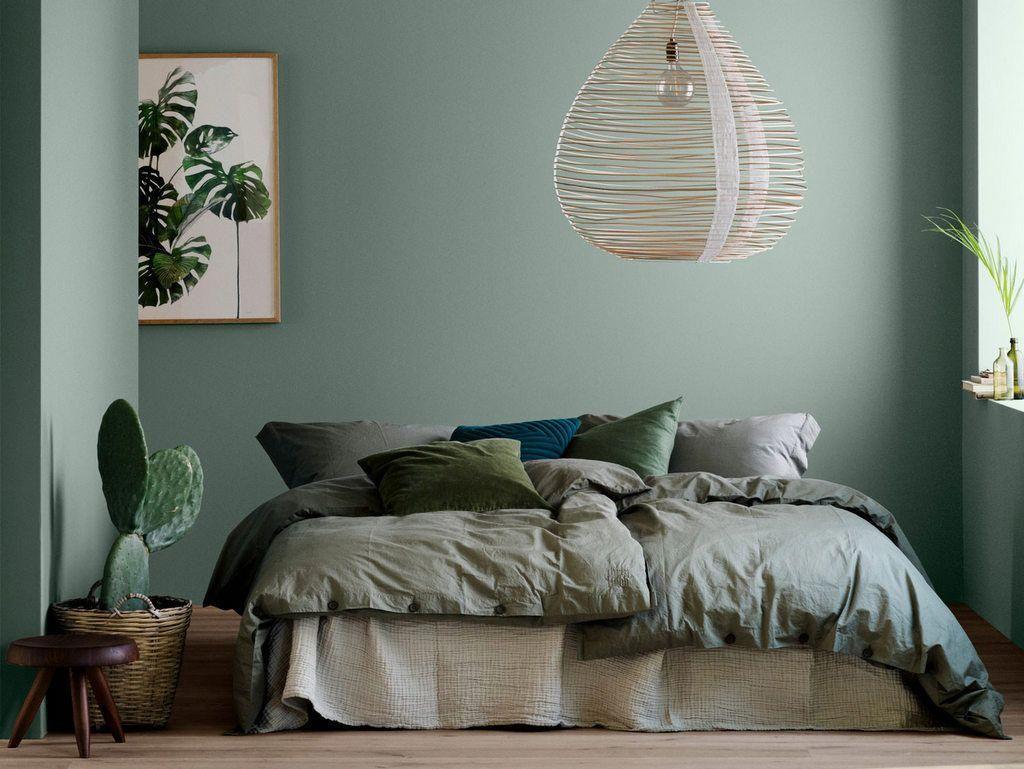 Le Vert Est Une Couleur Ideale Pour La Chambre Apaisant Il Est