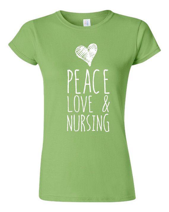 519ec8b70f451 Peace Love And Nursing T Shirt Nurses Gift Shirt by HarplynDesigns ...