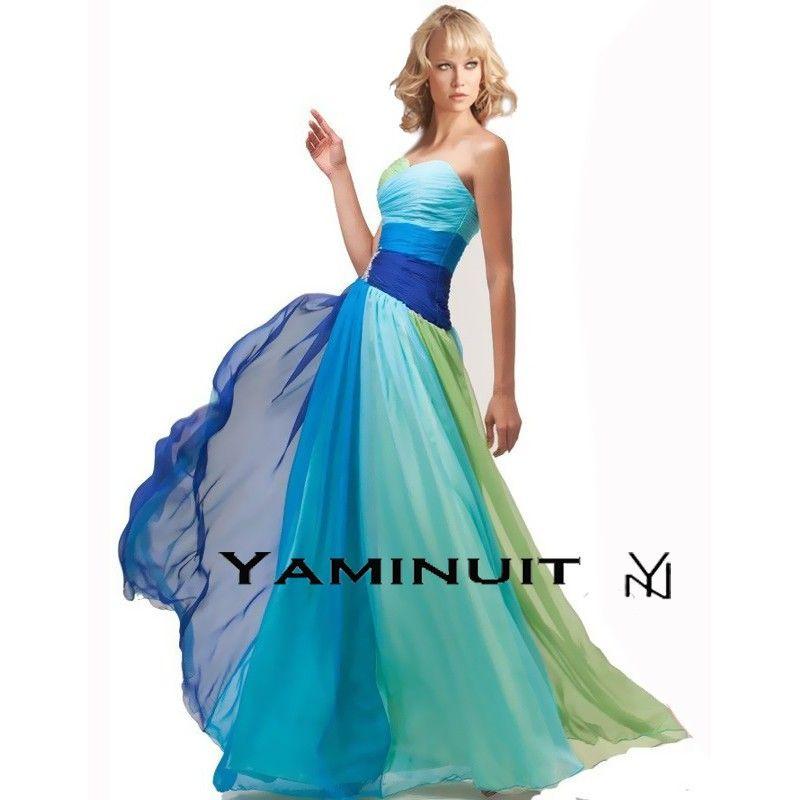 Robe de cocktail bleue turquoise
