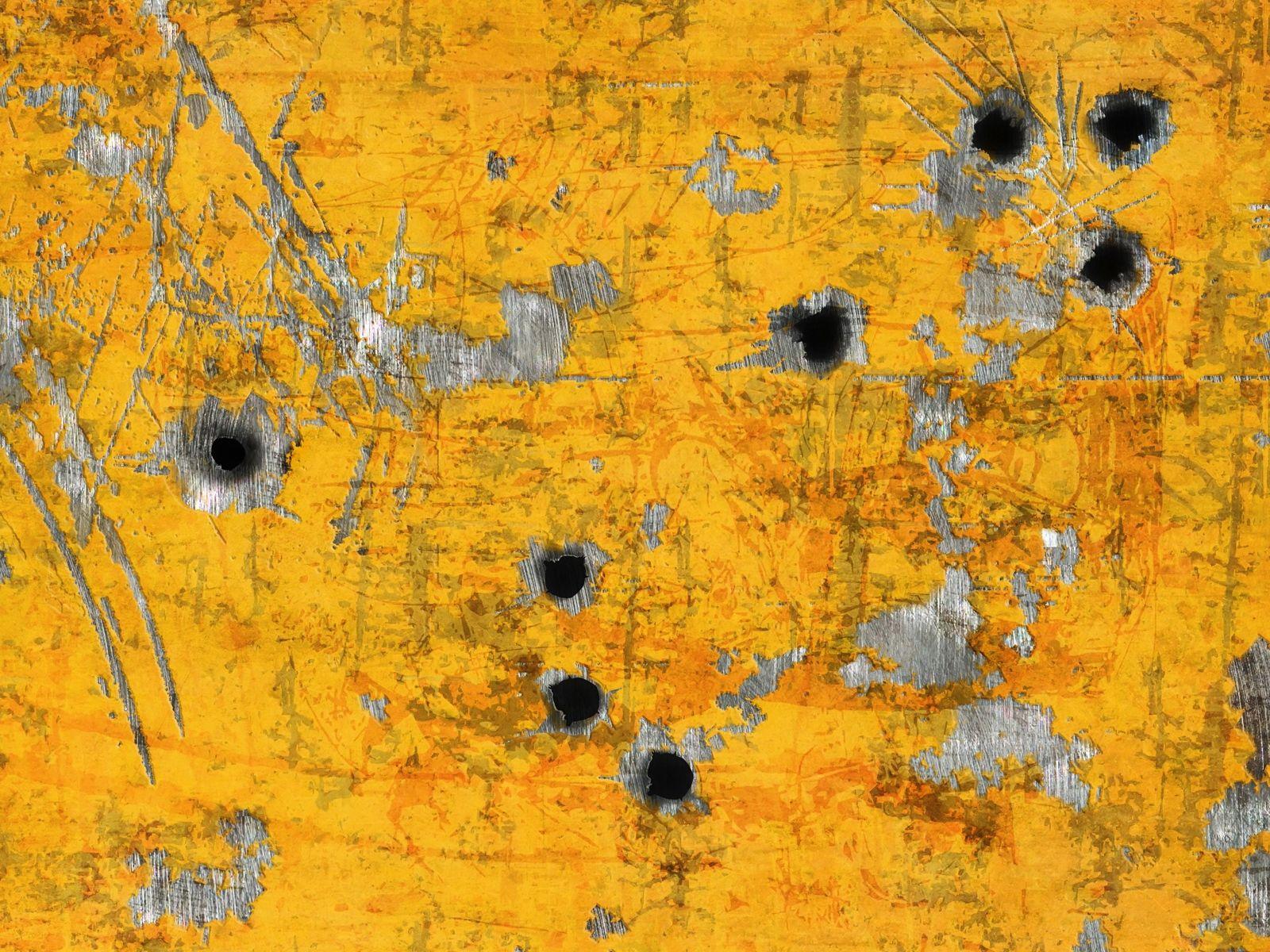 1600x1200 Wallpaper Paint Metal Bullet Holes Stains